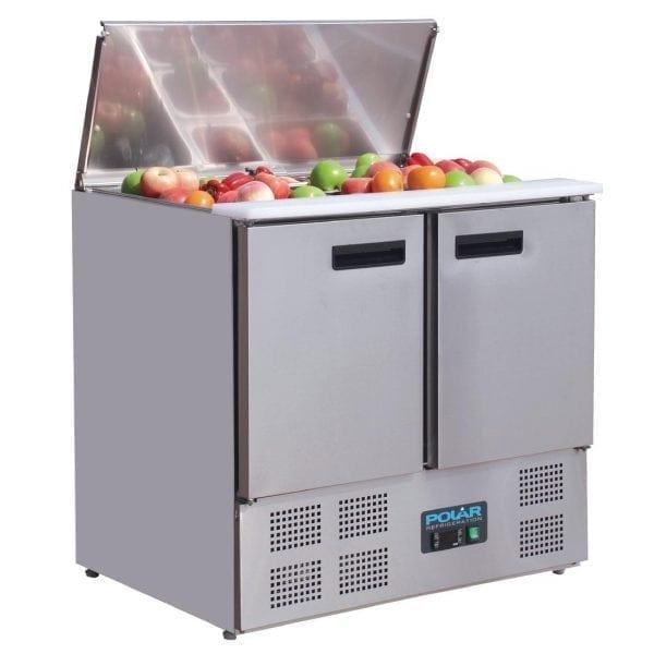 Polar Refrigerated 2 Door Saladette Counter (UK)-0