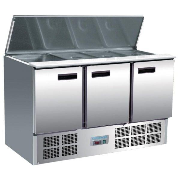 Polar Refrigerated 3 Door Saladette Counter (UK)-0