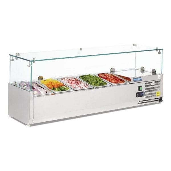 Polar Refrigerated Counter Top Prep/Servery - 1200mm 5 GN 1/4 (UK)-0