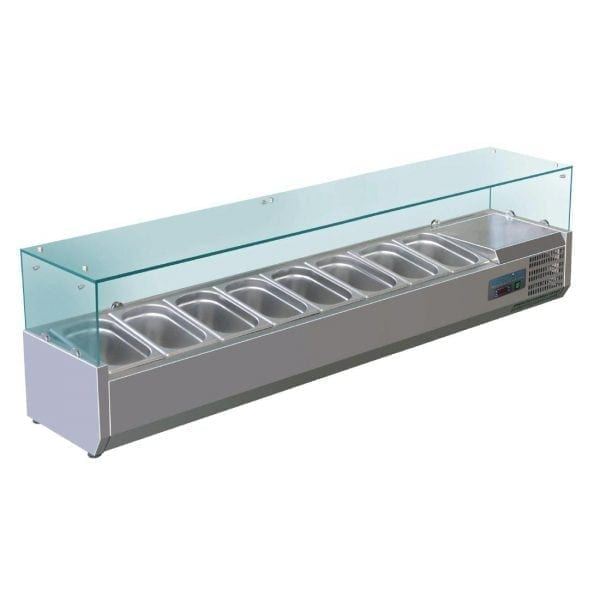 Polar Refrigerated Counter Top Prep/Servery - 1800mm 8 GN 1/4 (UK)-0