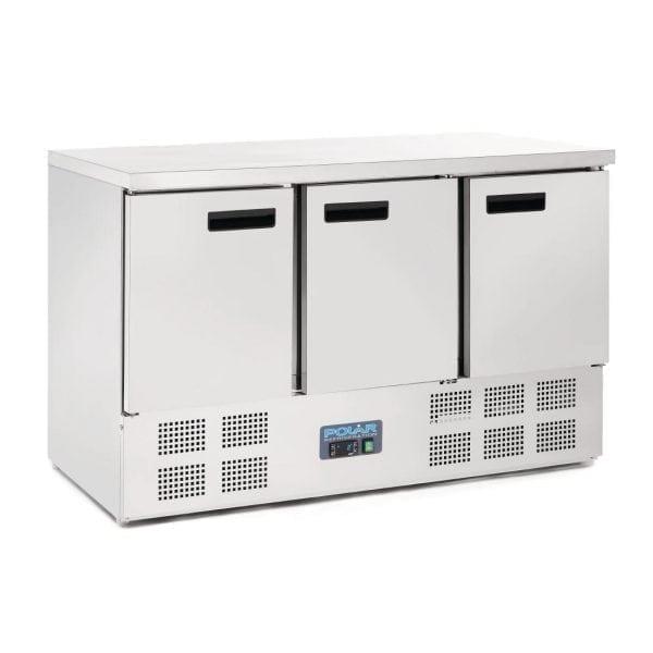 Polar 3 Door Counter with Compressor Underneath (UK)-0