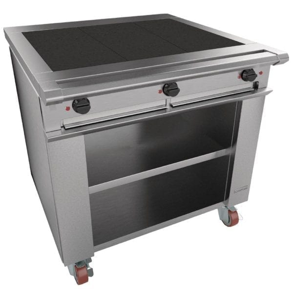 Falcon Chieftain 3 Hotplate Electric Boiling Table, Legs (Direct)-0