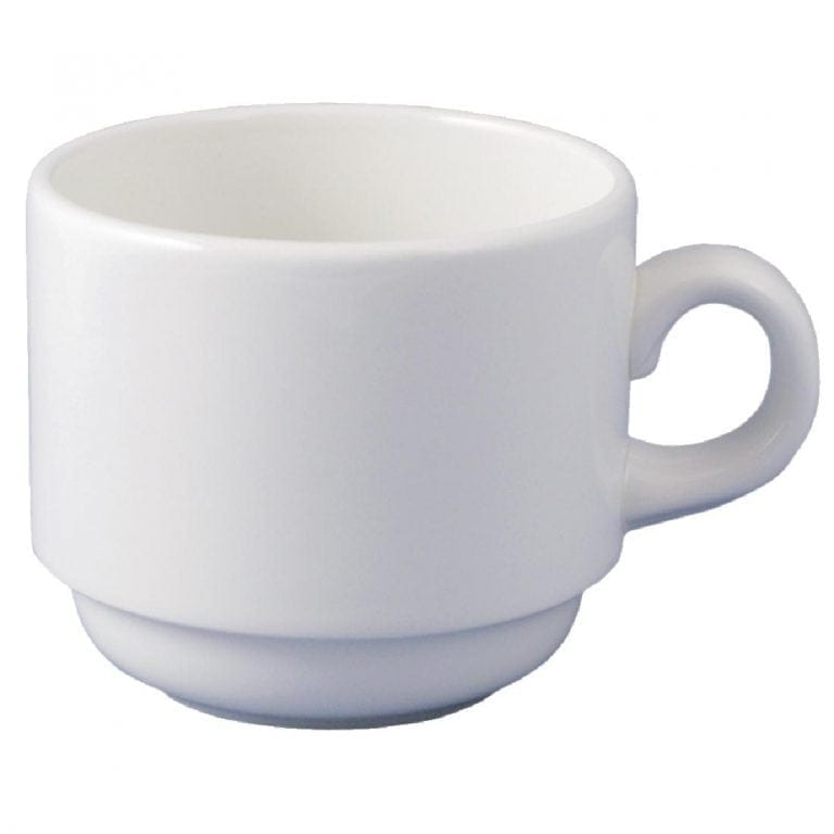 Dudson Classic White Teacup Stacking (Fits 100A) 18cl 6 1/4oz (Box 36) (Direct)-0