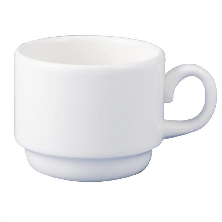 Dudson Classic White After Dinner Cup Stacking (Fits GC418) 13cl 4 1/2oz(Box 36)-0