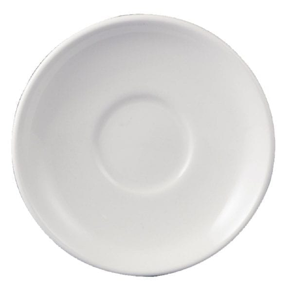 "Dudson Classic White After Dinner Saucer - 120mm 4 3/4"" (Box 36)-0"