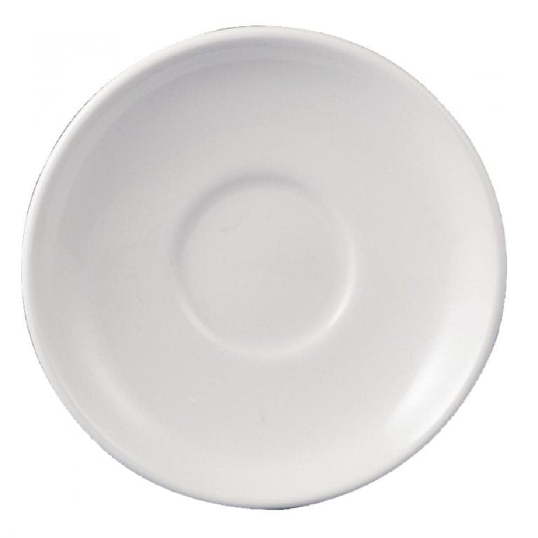 """Dudson Classic White After Dinner Saucer - 120mm 4 3/4"""" (Box 36)-0"""