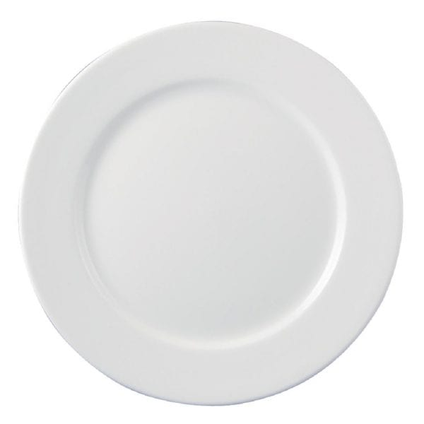 "Dudson Classic White Plate - 24cm 9 1/2"" (Box 24) (Direct)-0"