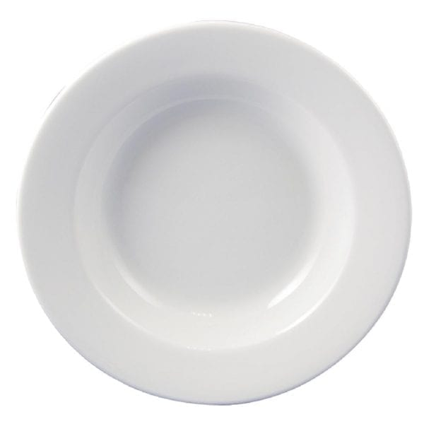 "Dudson Classic White Soup Plate - 24cm 9 1/2"" (Box 24) (Direct)-0"