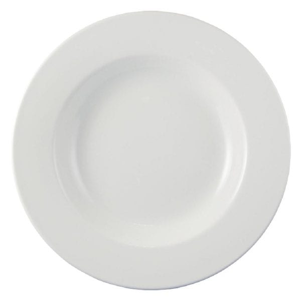 "Dudson Classic White Soup/Pasta Plate - 31.1cm 12 1/4"" (Box 12) (Direct)-0"
