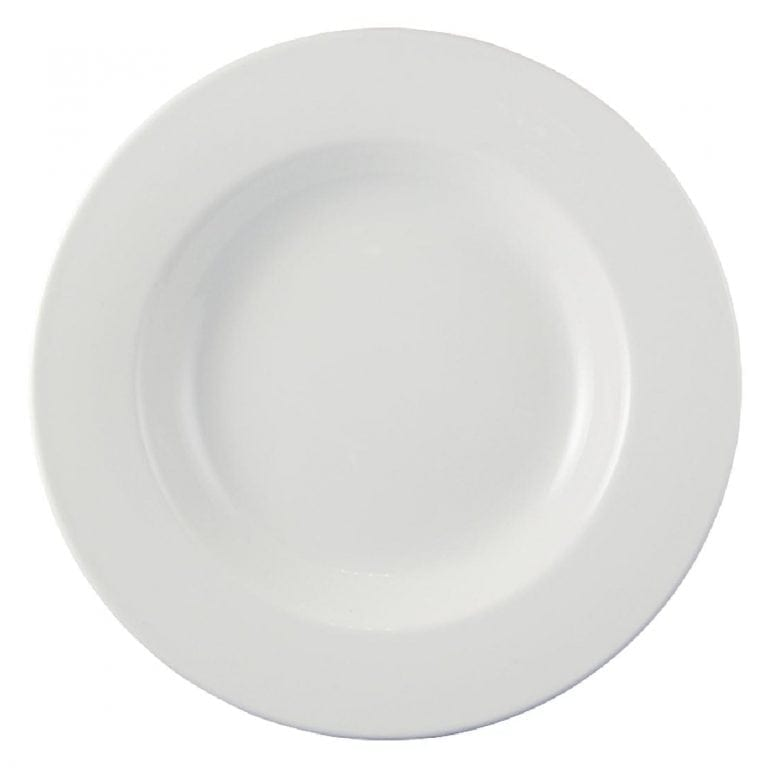 "Dudson Classic White Soup/Pasta Plate - 31.1cm 12 1/4"" (Box 12) (Direct)-0"