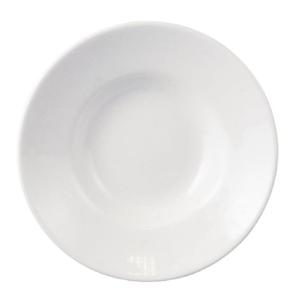 "Dudson Classic White Gourmet Bowl/Saucer - 4"" 10.3cm (Box 36) (Direct)-0"