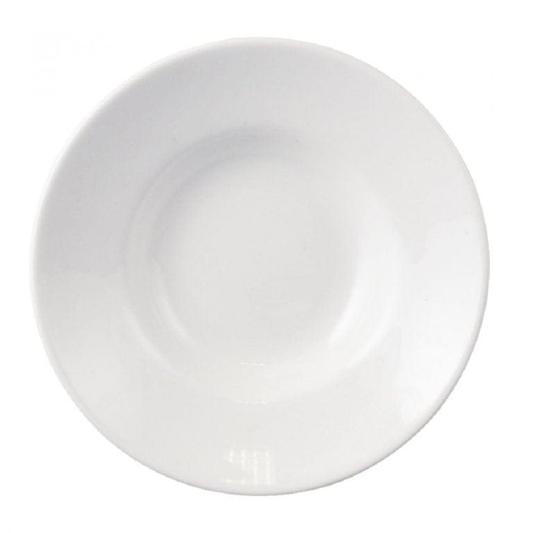 "Dudson Classic White Gourmet Bowl/Saucer - 4"" 10.3cm (Box 36) (Direct)-0"