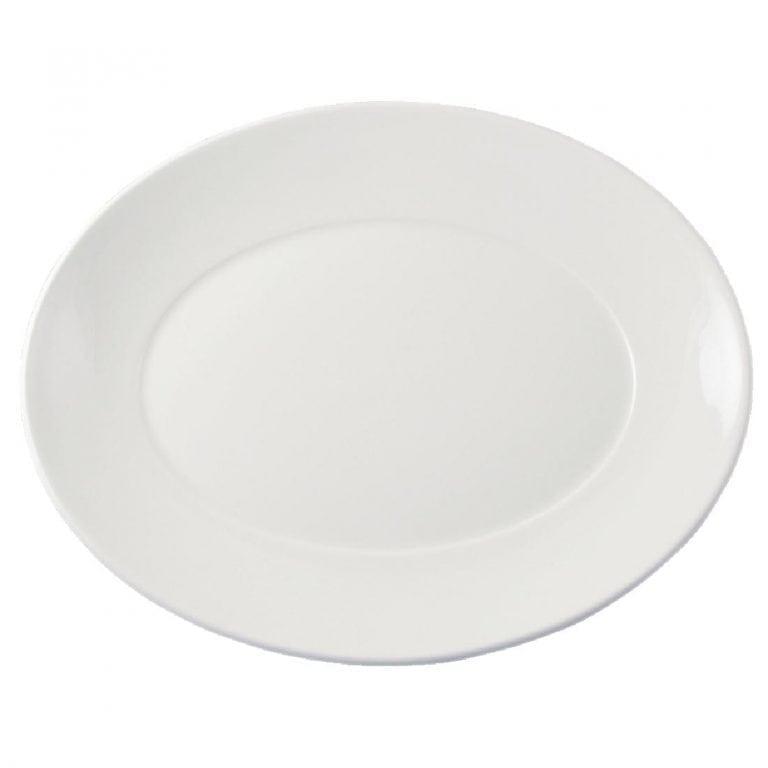 "Dudson Flair Oval Platter - 345mm 13 1/2"" (Box 12)-0"