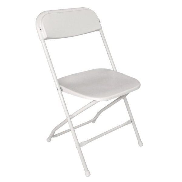 Bolero Folding PP Chair White (Pack 10)-0