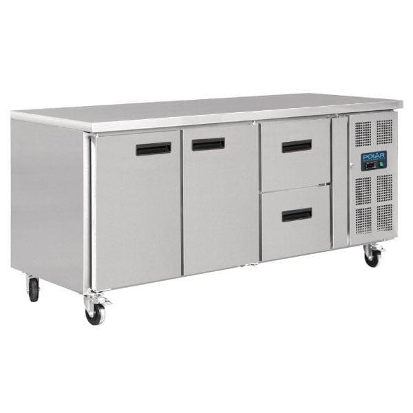 Polar Counter REFRIGERATOR 2 doors plus 2 Drawers-0