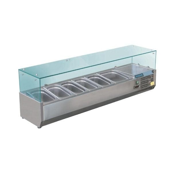 Polar Refrigerated Servery Topper - 1500mm 5x1/3 GN & 1x1/2 GN-0