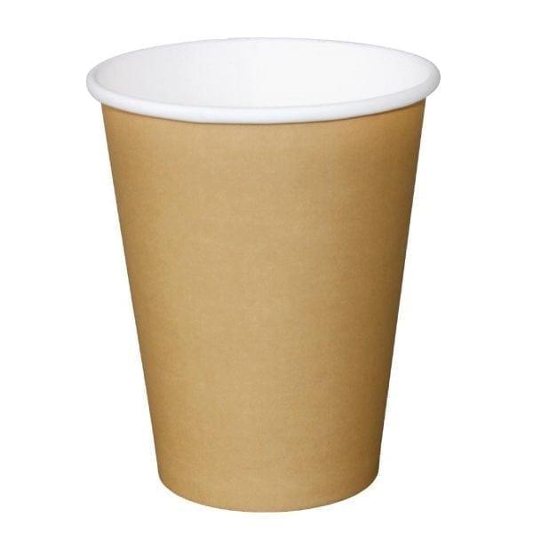 Fiesta Hot Cups Single Wall Kraft - 341ml (12oz) (Box 1000)-0
