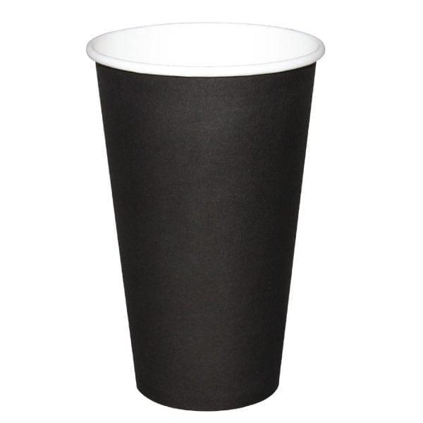 Fiesta Hot Cups Single Wall Black - 455ml (16oz) (Box 1000)-0