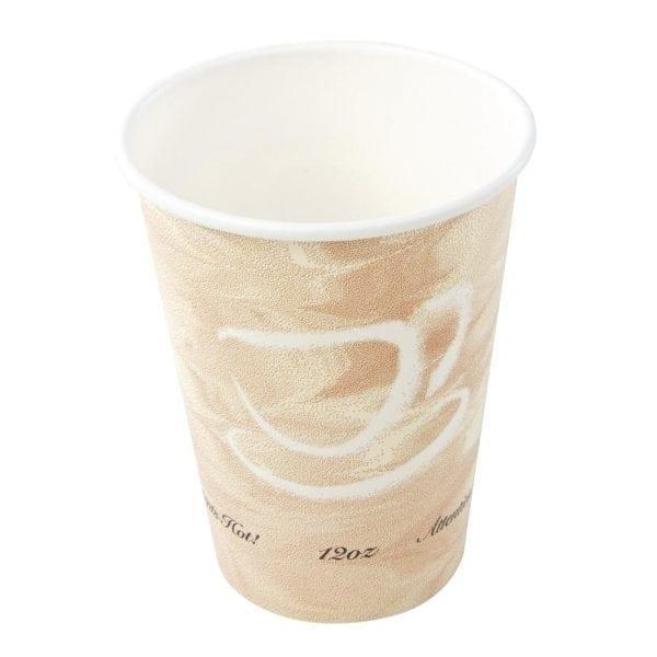 Hot Cup Single Wall Caffee Pattern - 12oz (Box 1260)-0