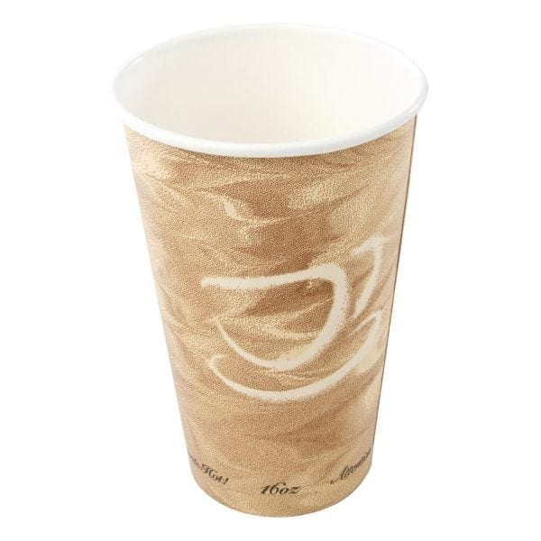 Hot Cup Single Wall Caffee Pattern - 16oz (Box 1000)-0