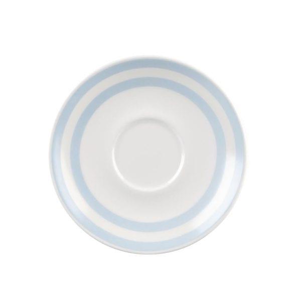 "Churchill Vintage Cafe Blue Stripes Saucer - 156mm 6 1/4"" (Box 12) (Direct)-0"