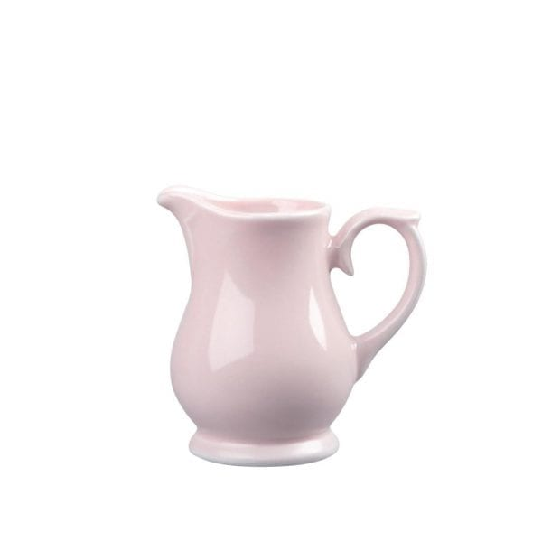 Churchill Vintage Cafe Pastel Pink Jug - 140ml 1/4pint (Box 4) (Direct)-0