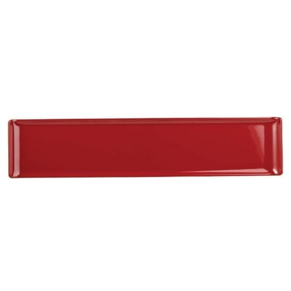 Alchemy Buffet Red Melamine Rectangular Tray - 460x100mm (Box 4) (Direct)-0