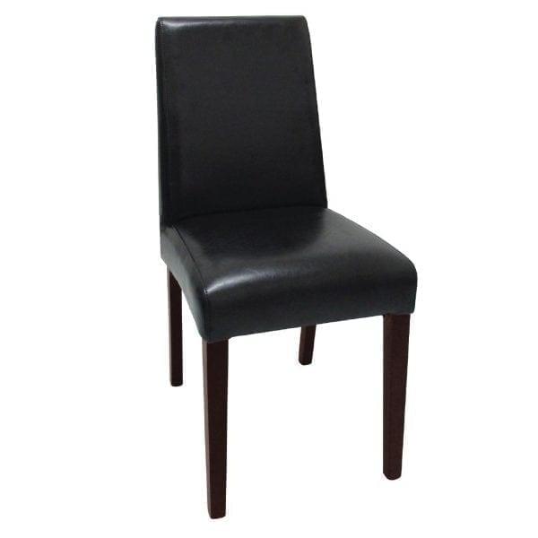 Bolero Faux Leather Dining Chair Black (Box 2)-0