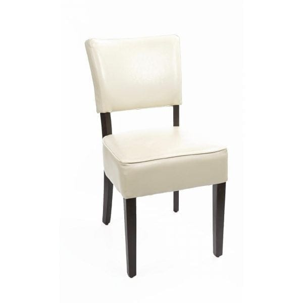 Bolero Deep Seated Faux Leather Chair Cream (Box 2)-0