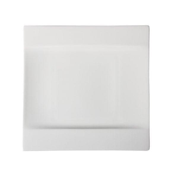 "Royal Bone DEVA Prime Square Plate - 220x220mm 8 1/2x8 1/2"" (Box 12)-0"