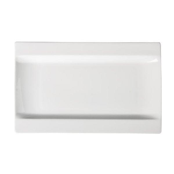 "Royal Bone DEVA Prime Rectangular Tray Plate - 190x350mm 7.5x12"" (Box 1)-0"