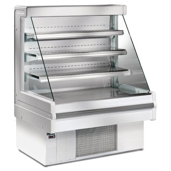 Zoin Mandy 1000(w)mm 3 Shelf Low-Profile Multideck Display Chiller (Silver)-0