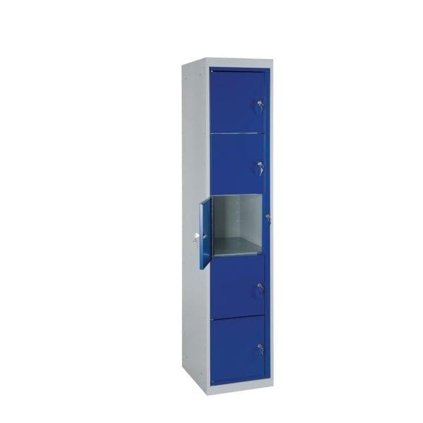 Garment Locker Flat Top 5 Door - 1830h x 380w x 457d mm (Direct)-0