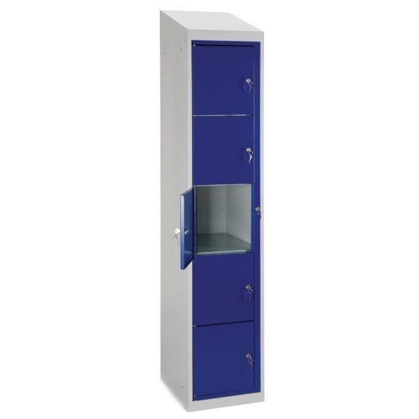 Garment Locker Sloping Top 5 Door - 1980h x 380w x 457d mm (Direct)-0
