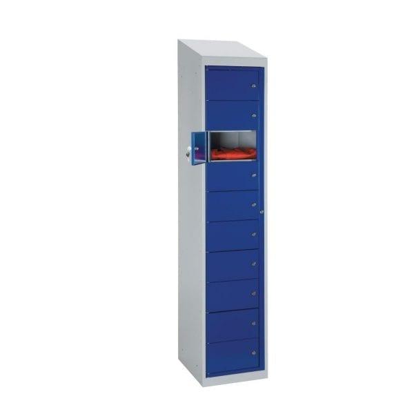 Garment Locker Sloping Top 10 Door - 1980h x 380w x 457d mm (Direct)-0