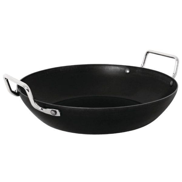 """Vogue Black Iron Paella Pan - 20""""-0"""