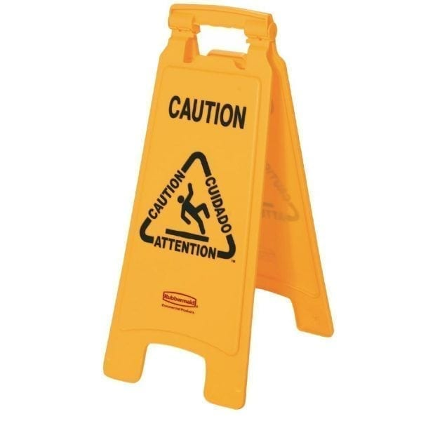 Rubbermaid Multi lingual A frame Wet Floor Sign-0