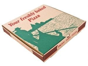 "Pizza Box Gondola Design - 14"" (Box 50)-0"