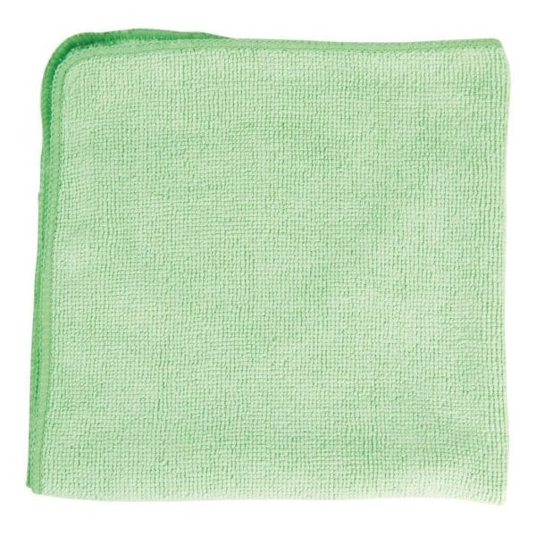 Rubbermaid Pro MicroFibre Cloth Green (Pack 12)