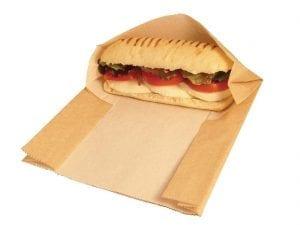 Vegware Panini Bag Hot & Crispy Pouch (Box 500)-0