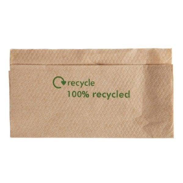 Kraft 100% Recycled Dispenser Napkin - 32x33cm (Box 6000)-0
