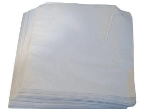 White Paper Bags - 180x175mm (Pack 1000)-0