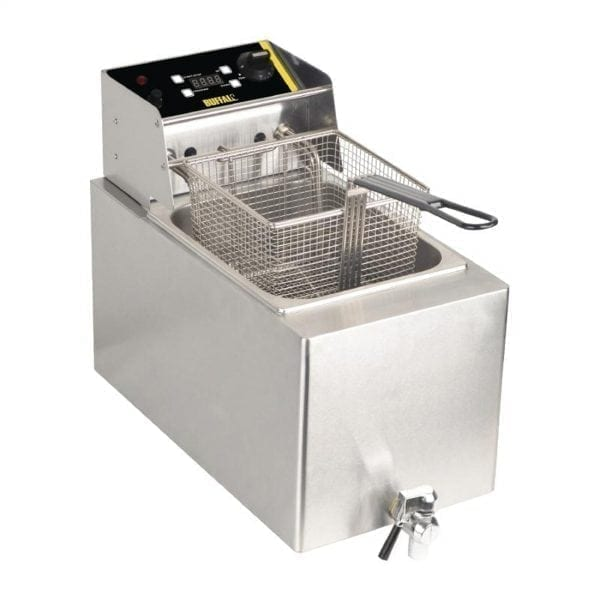 Buffalo Single Fryer - 1 x 8Ltr 2.9kW with Timer-0