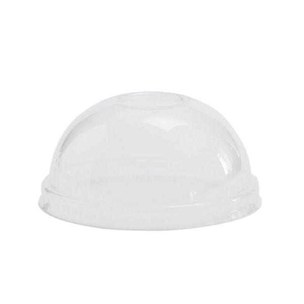 Vegware Domed Lid for Soup/Ice Cream Container - 8oz (Box 1000)-0