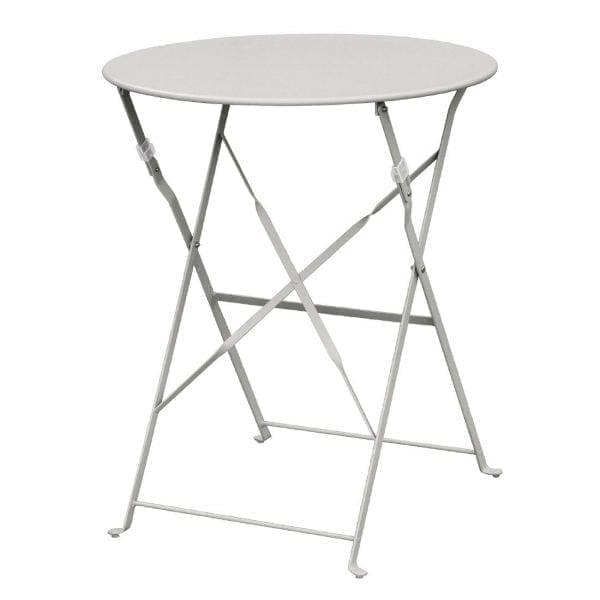 Bolero Grey Pavement Style Steel Table (600mm Round)-0