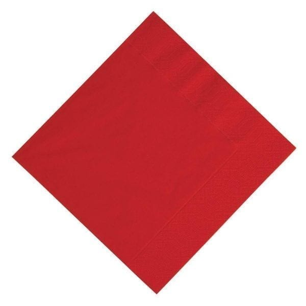 Duni Lunch Napkin Red - 33x33cm 3ply (Pack 1000)-0