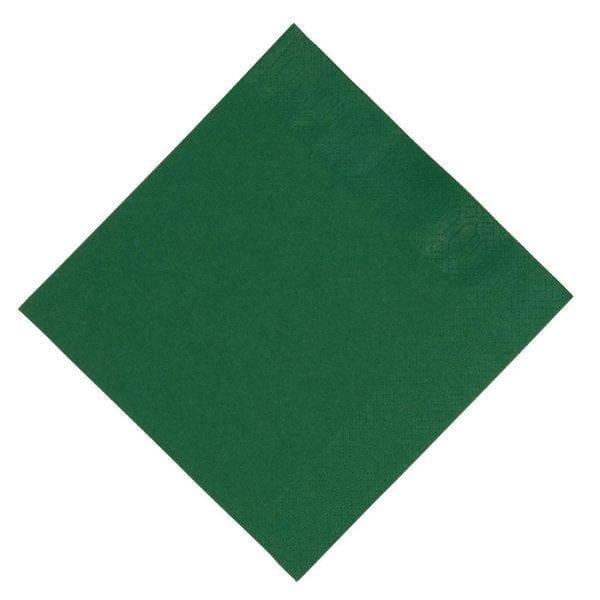 Duni Lunch Napkin - 33x33cm 3ply Dark Green (Pack 1000)-0