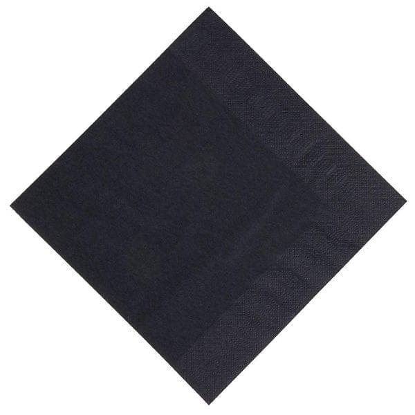 Duni Dinner Napkin - 40x40cm 3ply Black (Pack 1000)-0