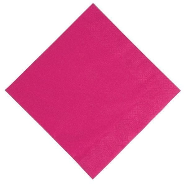 Duni Dinner Napkin - 40x40cm 3ply Fuschia (Pack 1000)-0