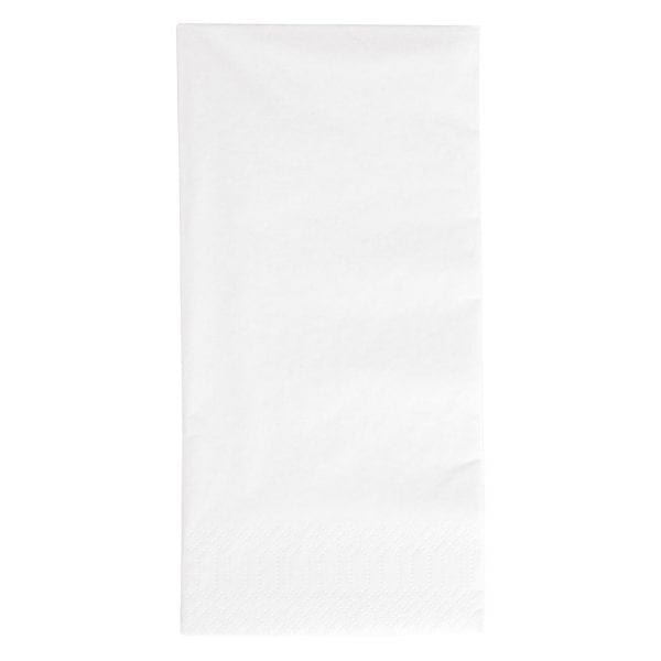 Duni Dinner Napkin - 40x40cm 3ply White 1/8 fold (Pack 1000)-0